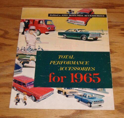 Original 1965 Ford Total Performance Accessories Sales Brochure 65 Mustang