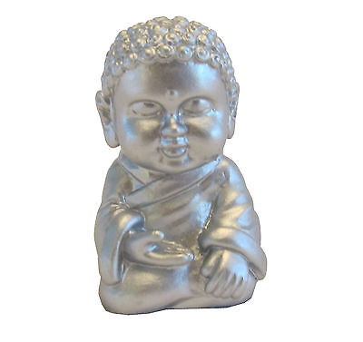 Pocket Buddha Silver Serenity Buddhism Mini Figure Figurine Toy