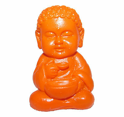Pocket Buddha Orange Health Buddhism Mini Figure Figurine Toy