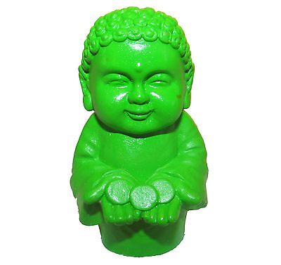 Pocket Buddha Green Prosperity Buddhism Mini Figure Figurine Toy