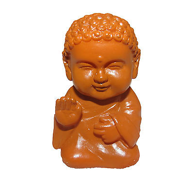 Pocket Buddha Brown Blessed Buddhism Mini Figure Figurine Toy