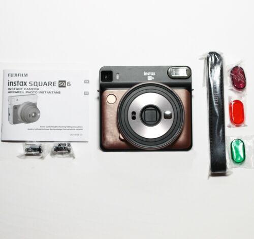 GENUINE Fujifilm instax SQUARE SQ6 Instant Film Camera Blush Gold (USA Seller)