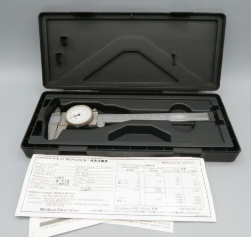 "Mitutoyo Shock Proof Dial Caliper .001"" with Hard Case"