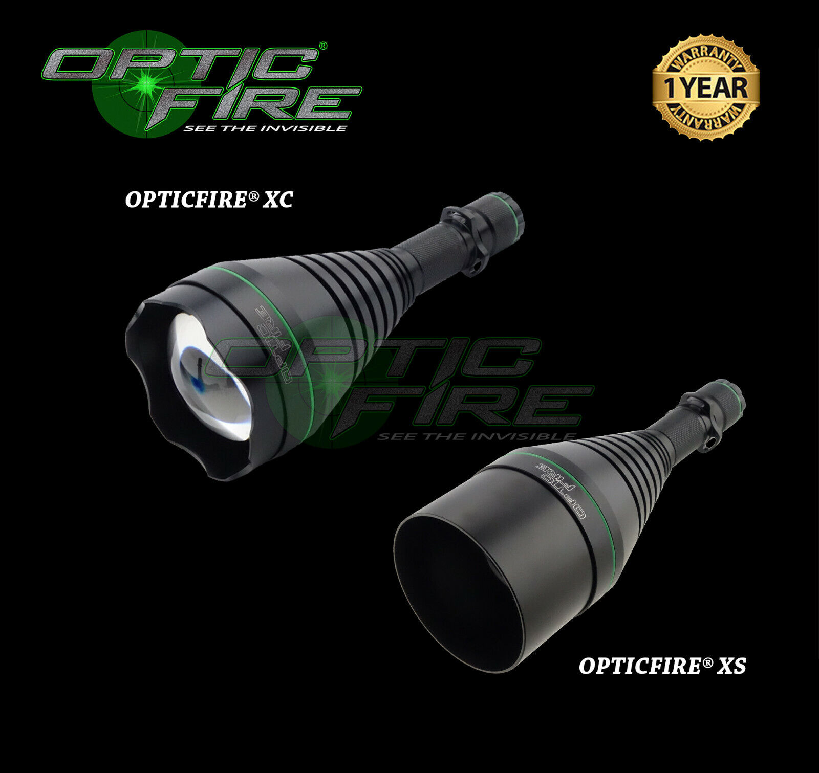Opticfire® XC High power LED Hunting torch gun light scope mount lamping lamp