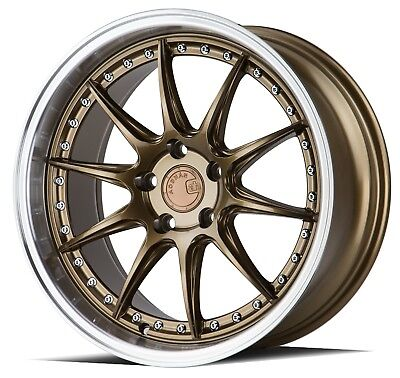 Aodhan DS07 18x9.5 18x10.5 +15 5x114.3 Bronze Staggered (Set of 4)