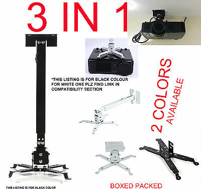 Image of Universal Projector Ceiling Wall Mount Bracket Tilt Extendable For Acer Asus Nec