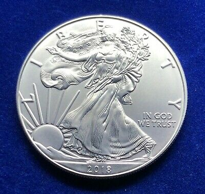 2018 (1 oz) American Silver Eagle (BU) Taken from a Mint roll (ASE) *147