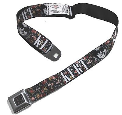 New Buckle-Down Officially Licensed Kurt Cobain Adjustable Seatbelt Belt ()