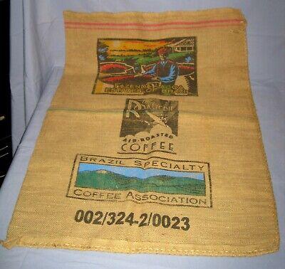 Fazenda Lagoa Estates Café Do Brazil Burlap/Jute Coffee Bag Color Farmer!
