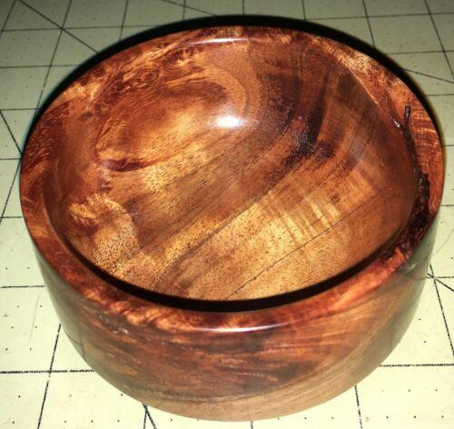 Hawaiian Curly KOA Wood Art Chawan Bowl~Local Artist~Gallery Quality~GIFT (#12)