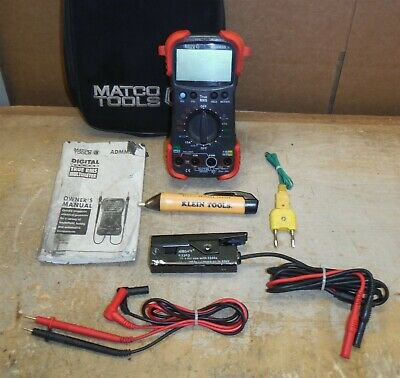Matco Tools Admm50 Multimeter W Leads Extras In Soft Case Free Ship Bw5