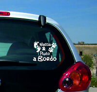 Adesivo Sticker Tuning Auto Parabrezza Bimbo E Cane A Bordo Nome Ob004 - bimbo - ebay.it