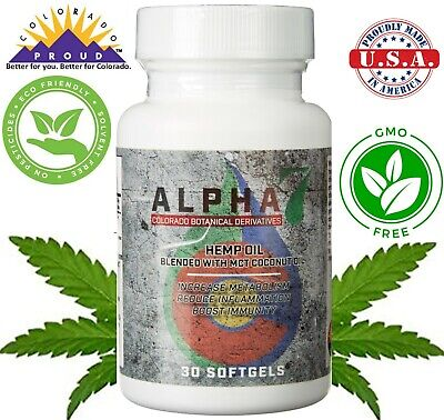 Ultra Pure 100% Colorado Hemp Oil 750MG of Soft Gel Capsules for Pain Relief