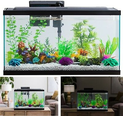 Aquarium beginner kit 29-gallon with filter and LED lights