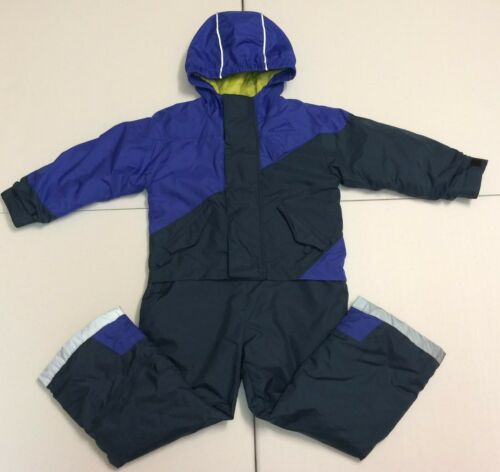 Polar Edge Boys One Piece Insulated Ski SnowSuit With Grow Feature (Size 5/6)