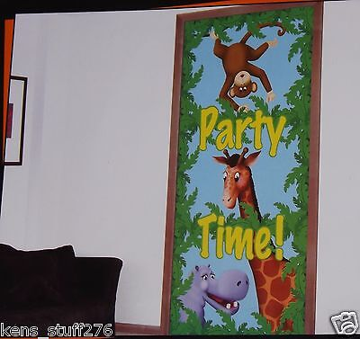 Jungle Pals Scene Setter, Wall Mural, Party Decoration, Picture Prop - 30