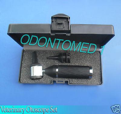 Veterinary Otoscope Set Animal Black Color Diagnostic Instruments