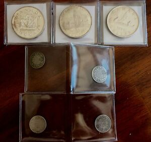 Silver Canadian coin collection