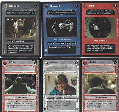 6 cards Star WARS Customizable Card Game CCG - genau die auf dem Scan 4