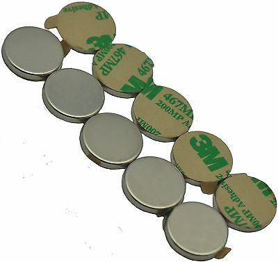 34 X 18 Disc Magnets - Adhesive Backed - Neodymium Rare Earth Magnets