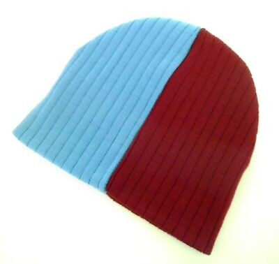Aston Villa / Burnley / West Ham United Hats - Claret & Blue Football Beanie (Aston Villa Hat)