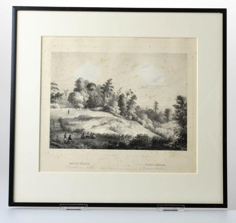 Antique Print BATU MEJA MALUKU ISLANDS AMBON INDONESIA Buffa Amsterdam 1844