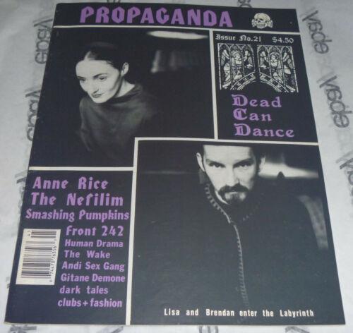 PROPAGANDA MAGAZINE Spring 1994 21 Smashing Pumpkins Anne Rice GOTH zine Nefilim