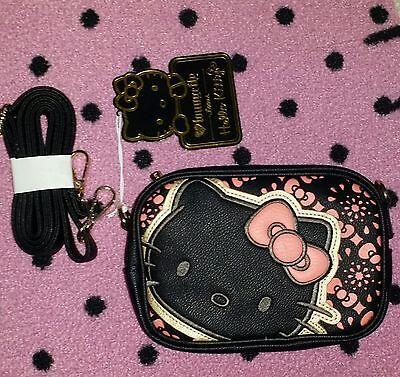 Hello Kitty Black Loungefly Small Crossbody Purse Bag