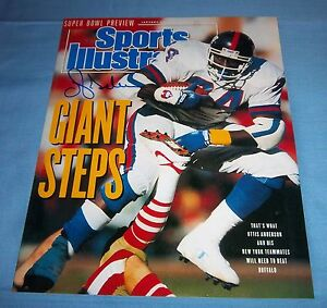 NY-Giants-Ottis-OJ-Anderson-Signed-Autographed-8x10-Photo-Sports-Illustrated-A