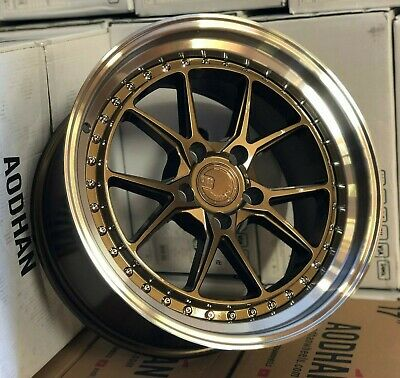 18x8.5 Aodhan DS08 Wheels Bronze with Machined Lip 5x120 +35 Rims 18