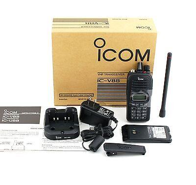 New Icom Ic-v88 Ip67 5.5w Explmr Vhf 136-174mhz Mdc1200 Radio Wbp-278bc-213
