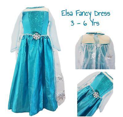Girls PRINCESS ELSA Dress Costume Fancy Dress Kids Party Disney Frozen EX C&A - Elsa Baby Costume