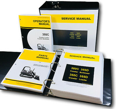 Technical Service Parts Operators Manual John Deere 350c 350d Crawler Bulldozer