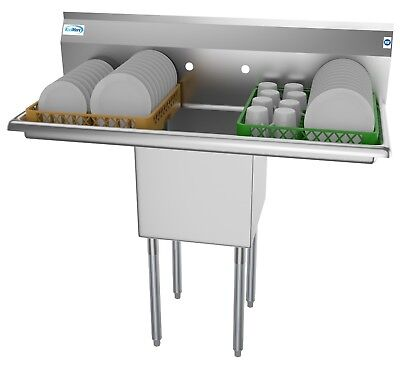 1 Compartment Nsf Stainless Steel Commercial Prep - Utility Sink For Restaurants