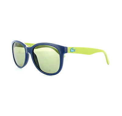 Genuine Lacoste Kids Junior Sunglasses Square L3603S-424 BLUE Frame GREEN Arms ()