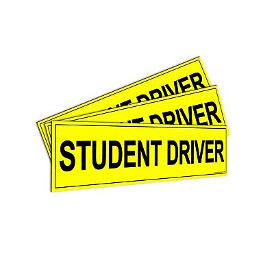 Student Driver' Magnet - Bumper Stickers for A New Driver - Car Sign, Pack Of 3