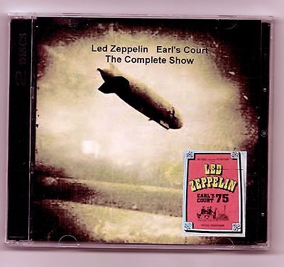 Complete Concert Led Zeppelin at Earls Court 1975 2 DVD set Dolby - Concert Led