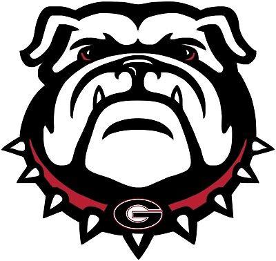(University of Georgia Bulldogs Color Vinyl Decal - You Choose Size 2