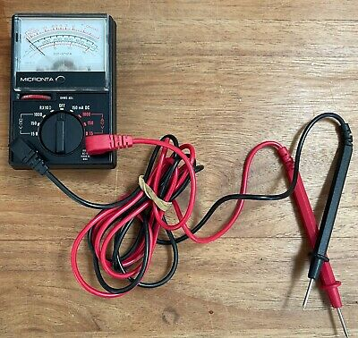 Micronta 22-212a Pocket Volt-ohm Meter In Clean Working Condition With Probes