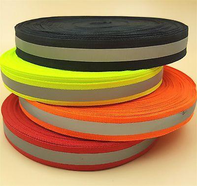 50m New Reflective Tape Strip Sew-on Silver Fabric Trim Safty Vest 10mm 0.39