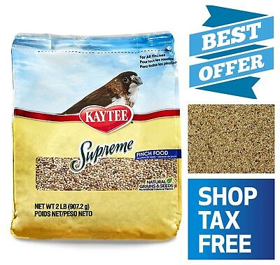 Kaytee Supreme Bird Food for Finches Natural Seeds & Grains No Artificial Flavor