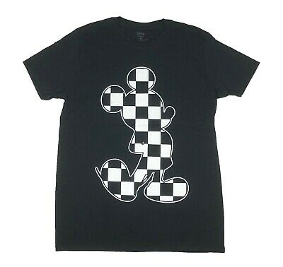 T-shirt Checkered Flag (Disney Mickey Mouse Checkered Flag Fill Disneyland Disneyworld Mens T Shirt S-XL)