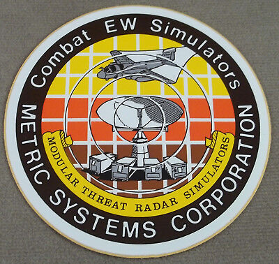 Military Defense Contractor Decal - Sticker Combat Electronic Warfare Simulators
