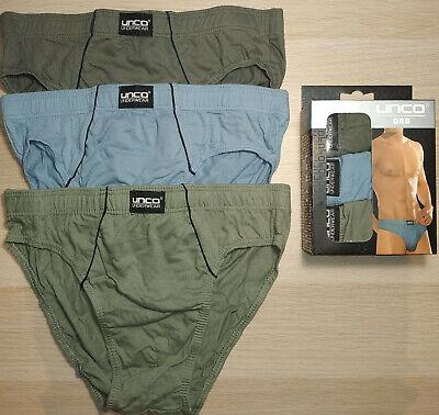 Pack 3 Calzoncillos slip 100% algodón. Colores lisos. Talla XL / 46