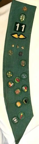 1948 Intermediate Girl Scout BADGE SASH, Patch OFFICIAL Uniform HALLOWEEN 11