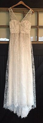 J.CREW Lace A-line Sequin Wedding Dress Beaded Embellished Sweetheart Sample