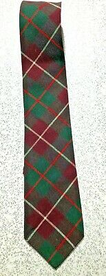 New 1930s Mens Fashion Ties VINTAGE 1930's-40's  RED GREEN PLAID 10O% WOOL BOTANY UNLINED TIE NECKTIE  $15.50 AT vintagedancer.com