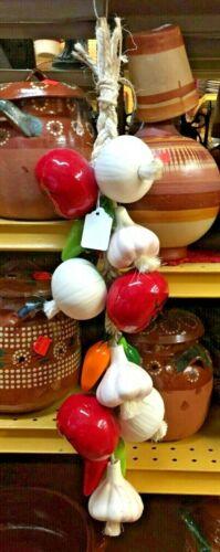 HANDMADE MEXICAN RISTRA OR STRING - (1) VEGETABLES  (B)  ***FREE FREIGHT***