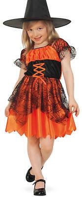 Spinne Hexe Kostüm Kinder (Hexe Spinnenhexe Kinder Karneval Fasching Halloween Kostüm 104-128)