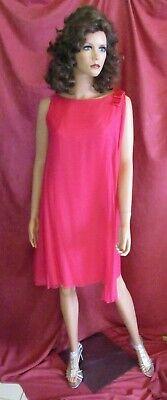 Jackie Kennedy Costume (Vtg 1960 Jackie Kennedy Audrey Hepburn Barbie Pink Silk Dress w/ Chiffon)